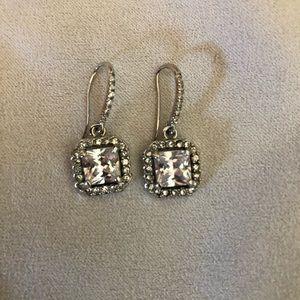 Stella & Dot Crystal drop earrings